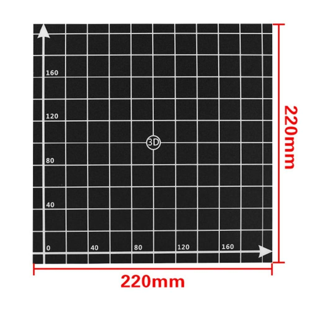 Amazon.com: Zamtac 220220mm /300300mm Coordinates Sticker 3D ...