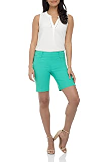Rekucci Womens Ease into Comfort Stretchable Pull-On 5 inch Slimming Tab Short