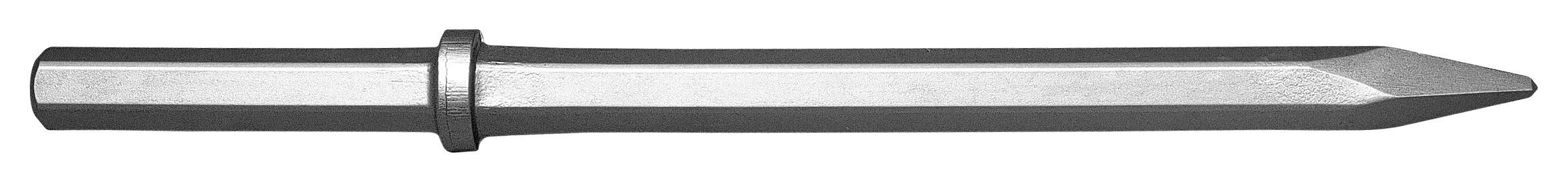 Champion Chisel, 1-1/8 by 6-Inch Hex Shank, 14-Inch Long Moil or Bull Point -Designed for 60lb & 90lb Pneumatic Hammers by Champion Chisel Works