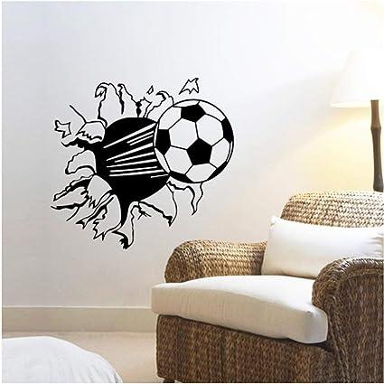 Degageant Un Trou Dans Le Mur Un Sticker Mural De Dessins Animes De Football Decorant La Decoration De La Chambre Du Salon Chambre Enfants Amazon Fr Bricolage
