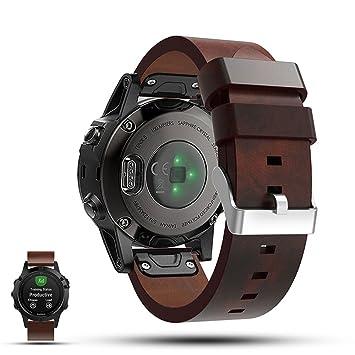 Garmin Fenix 5 GPS correa de reloj de repuesto Smartwatch - iFeeker accesorio 22mm de ancho correa ...