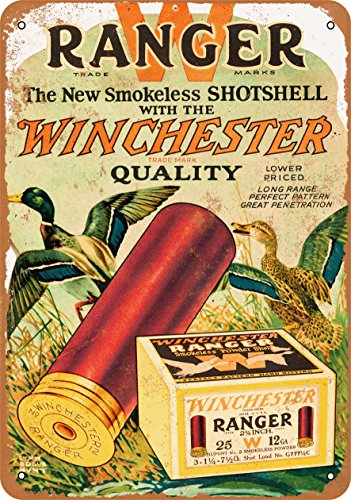 Wall-Color 10 x 14 Metal Sign - Winchester Ranger Shotgun Shells - Vintage Look