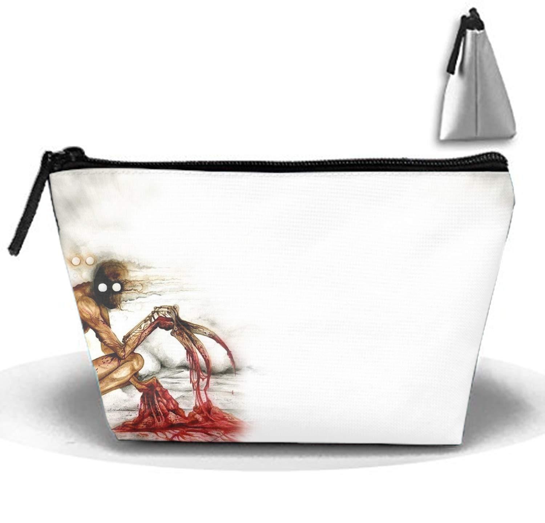 Bolsa de Almacenamiento Colgante Bolsa de cosm/éticos Creepypasta Oscura Bolsa de Aseo