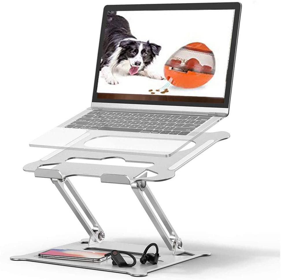 Adjustable Laptop Stand,PATIDO Portable Laptop Computer Stand Rriser&Multi-Angle Stand with Heat-Vent to Elevate Laptop Holder Compatible for Mac,Notebook,MacBook Pro/Air,Lenovo,Dell More10-17 Laptop