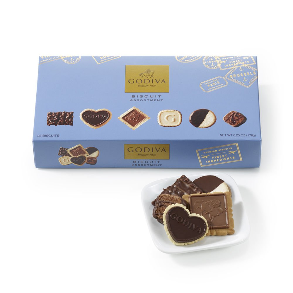 Godiva Chocolatier Assorted Chocolate Cookie Biscuit, Great for Easter Basket Gifts