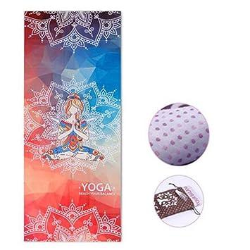 PeachBlossomSource Printed Yoga Mat Towel Microfiber ...