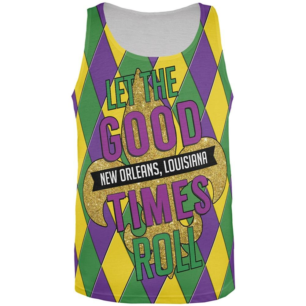 Old Glory Mardi Gras Let The Good Times Roll Jester All Over Mens Tank Top