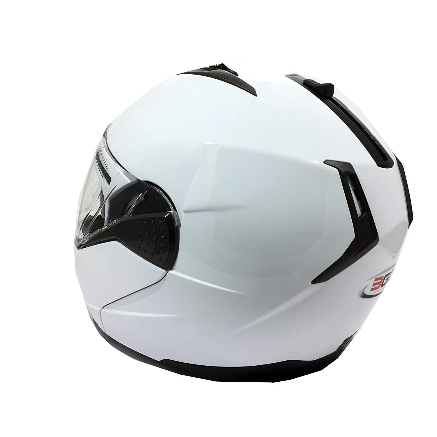 White, M 3GO E335 Motorbike Adventure Riding ECE ACU Gold Approved Touring Flip Front Helmets with Dual Visor Vented Noise Reducing Lining Flip Up Motorcycle Helmet