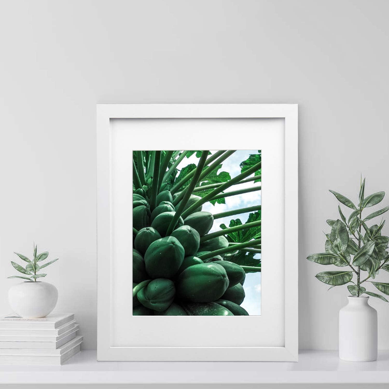 Vsadey Cornici Foto Set di 4 28 x 35 cm Cornici Fotogramma Collage Multiple da Parete in Legno Massiccio Combinato Bianco