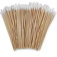 100 Count 6 inches Premium Cotton Swabs with Long Wooden Handles for Gun Cleaning, Polishing Jewelry