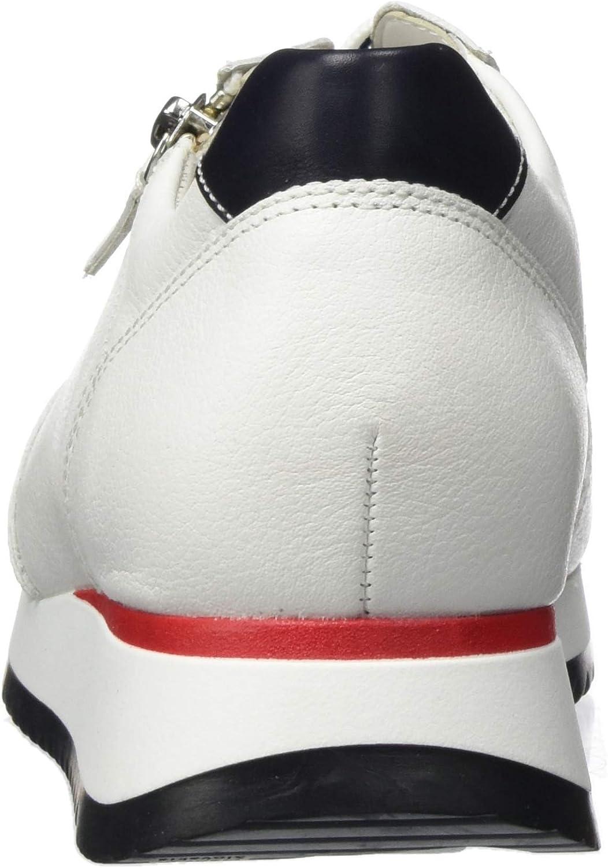 Gabor Women's Low-Top Sneaker White Weiss Blau Rot 52