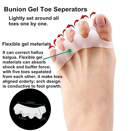 Amazon.com: 9 Pieces Bunion Corrector and Bunion Relief Kit - Brostown Toe Separator Hallux Valgus Bunion Corrector Orthotics Feet Bone Thumb Adjuster ...