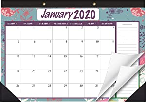 "STOBOK Desk Calendar,Desk Planner 2020 - 2021 Wall Hanging Yearly Monthly Planner ,Large Page 17""x12"" Run 2 Years for Daily Schedule Office Home"