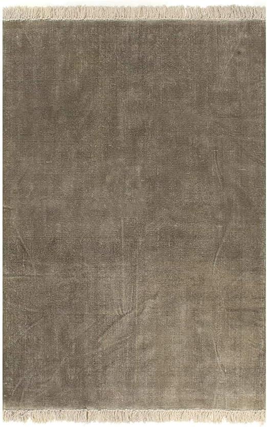 XINGLIEU Alfombra Kilim de algodón 120 x 180 cm Gris Topo Alfombra Moderna Alfombra salón Alfombra salón Moderno: Amazon.es: Hogar