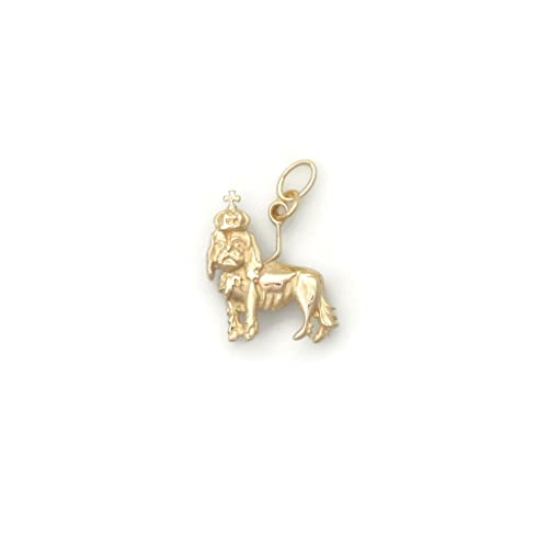 Donna Pizarro Designs 14kt Yellow Gold Cavalier King Charles Charm s77xW1