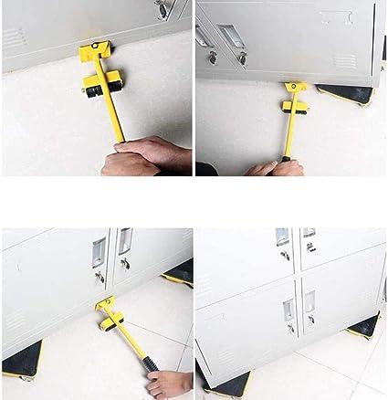 PULLEY-P Muebles portátil Elevador en Movimiento Conjunto de Herramientas, 360 ° mudanza fácil for los sofás, Camas, Lavadora, frigorífico Sliders Capacidad de Carga hasta 250 kg P: Amazon.es: Hogar