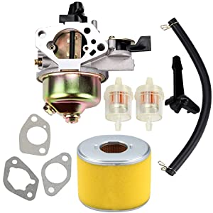 Kuupo Carburetor + Air Filter Fuel Line Carb Honda GX390 Tune-Up Kit 13HP 13 HP Replaces 16100-ZF6-V01 Parts Set Engine Motor Generator Pressure Washer
