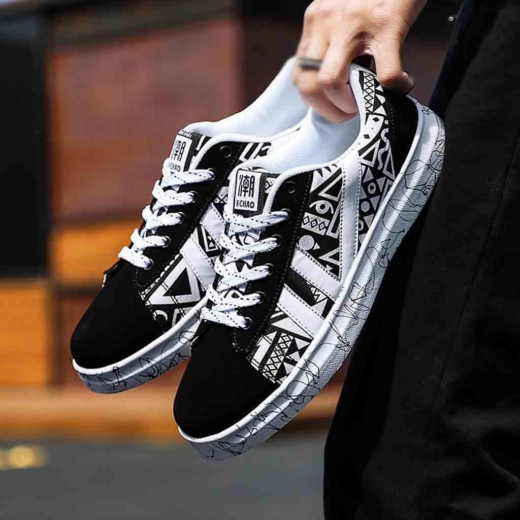 Men Low Top Sneakers,Dacawin Student Fashion Popular Running Walking Shoes Casual Lace-up Flat Shoes