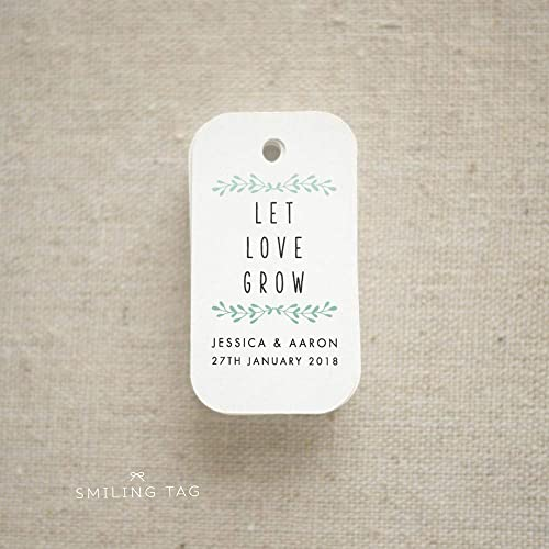ccb579c74d91 Let Love Grow Wedding Favor Tags - Personalized Gift Tags - Custom Wedding  Favor Tags - Bridal Shower Tags - Set of 30 (Item code: J648)