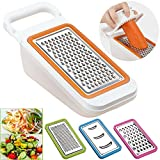Cooko Vegetable Slicer,Cheese Grater,Mandolin Vegetable Cutter Best for Carrot, Cucumber,Onions,Tomato and Zucchini,4 Stainless Steel Blades- Grater, Shredder, Julienne and Zester