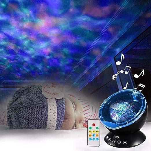Ocean Wave Starry Sky Aurora LED Proyector de luz Nocturna Lámpara ...