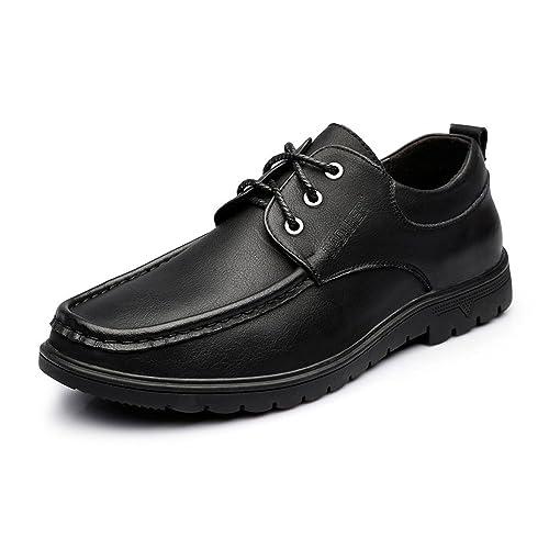Sunny&Baby Mocasines para Hombres con Cordones de Cuero Genuino Oxfords para Empresas Resistente a la Abrasión: Amazon.es: Zapatos y complementos