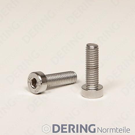 50 Zylinderkopfschrauben Innensechskant niedrig  DIN 7984 M4x16 EDELSTAHL A2 V2A