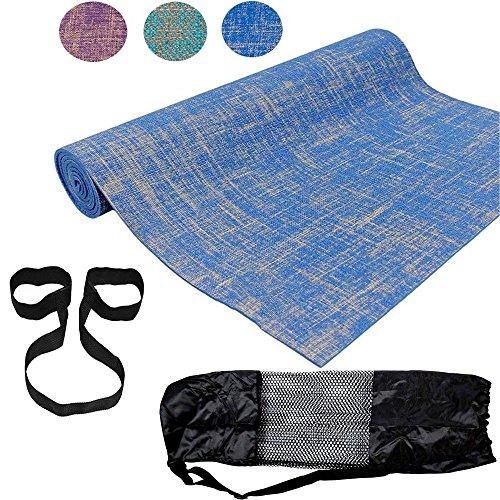 ROMIX Thick Yoga Mat, Eco Friendly Premium Quality Jute Fibres Reversible...