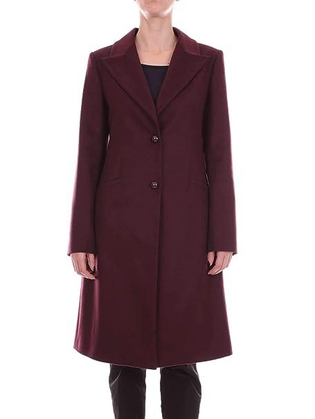 cappotto bordeaux lana