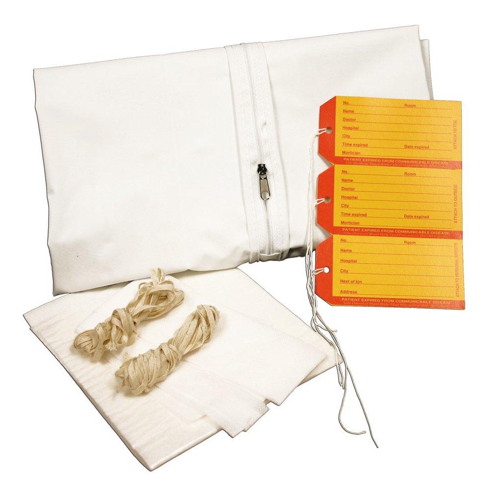 PDC Healthcare 55721-00-MBC Cadaver Bag, Pediatric Kit, Straight Zipper, Vinyl, 28'' x 46'', White (Pack of 10)