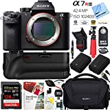 Sony a7R III 42.4MP Full-frame Mirrorless Interchangeable Lens Camera with Dual Battery + Battery Grip + 128GB Pro Memory A7RIII Bundle