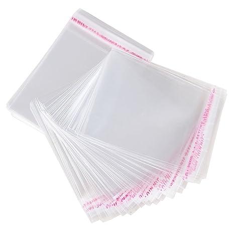 AONER 200pcs(10*15cm) Bolsas de Celofán Transparente Plastico Pequeñas OPP con Cierre Autocierre Banda Autodhesiva para Caramelo Bombones Regalos de ...