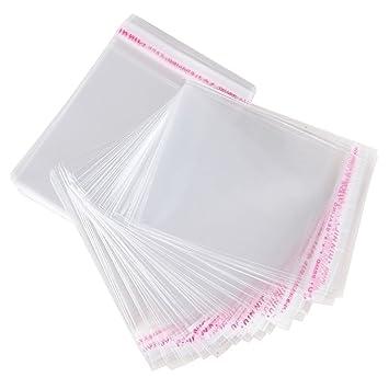 Bolsas de Celofán Transparente Plastico Pequeñas OPP con Cierre Autocierre Banda Autodhesiva para Caramelo Bombones Regalos de Boda (8 * 12.9cm)