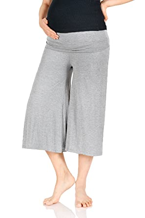 Beachcoco Women's Maternity Comfortable Capri Pants at Amazon ...