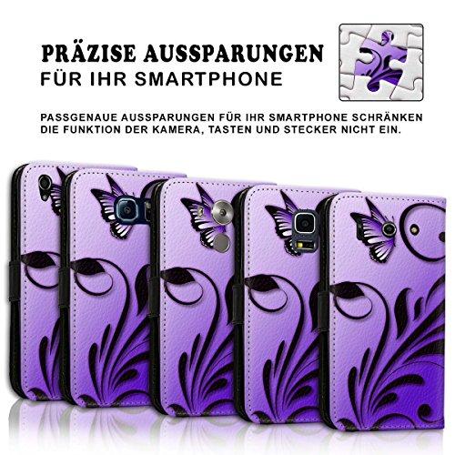 Wallet Book Style Flip Handy Tasche Case Schutz Hülle Schale Motiv Etui für Apple iPhone 6 / 6S - Design Flip MV255
