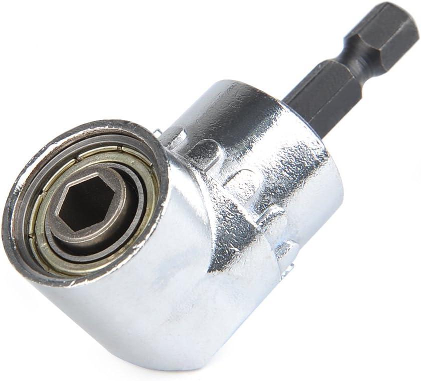 65mm PETSOLA 105/° Winkelschrauber Adapter Bithalter Sechskantschaft Schnellspanner Verl/ängerung Halter Bitsatz Verl/ängerungsstange f/ür Bohrmaschine