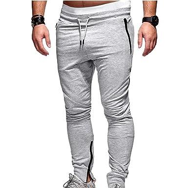 junkai Hommes Sportswear Casual Fitness Workout Courir Gym Pantalon Couture  Slim Pantalons Vêtements Jogging Pantalons De bb32a2c36cba