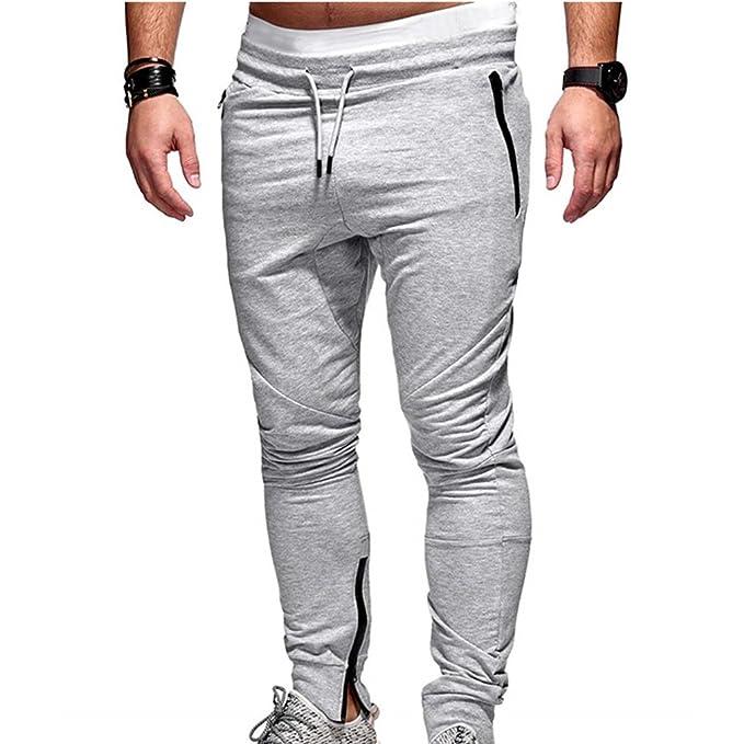 71c16b6cdb Yying Pantaloni della Tuta da Uomo Autunno Pantaloni da Tuta ...