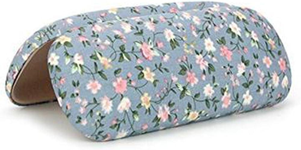 baumwolle Demarkt Brillenetui Faltbare Glas Tasche Cute Flower Tuch Fresh einfach Gl/äser Box Blume Print Design sch/ützen Brille Box 16.5 * 6.5 * 3.5cm blau