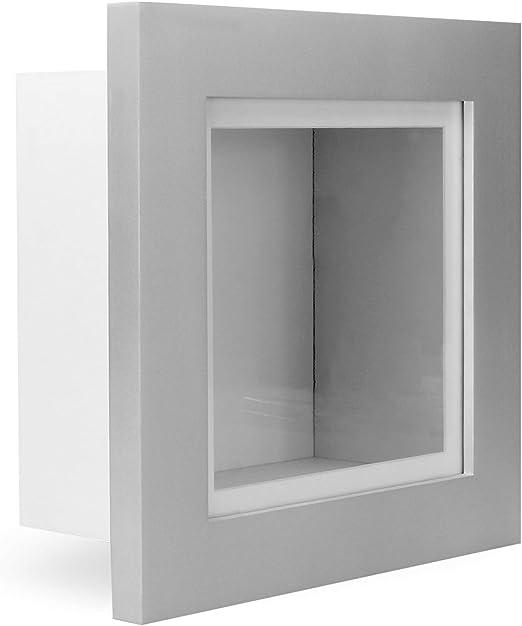 4 inch Deep 3D Shadow Box Picture Photos Keepsake MemorabiliaSilver Frames