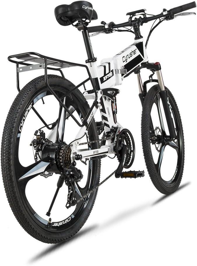 Extrbici® XF-700 Cyrusher Bicicleta eléctrica plegable de aleación ...