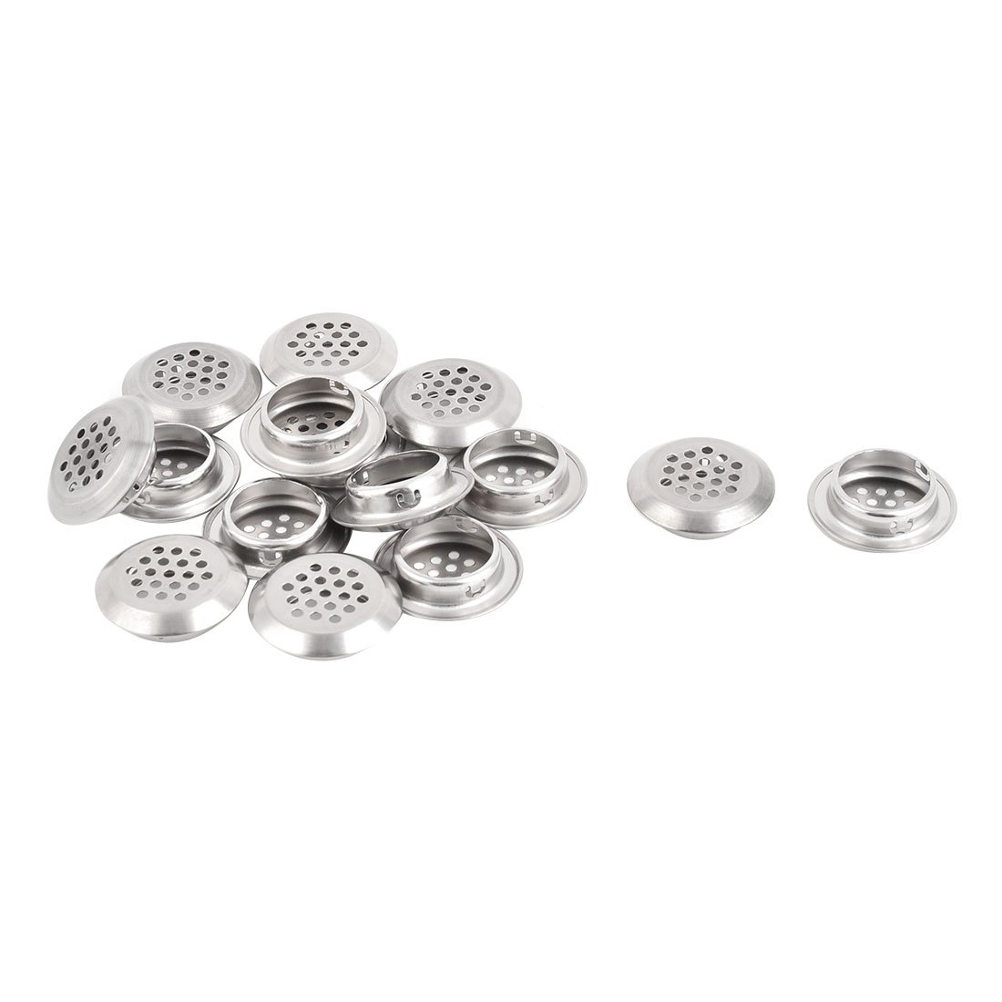 uxcell Stainless Steel Hotel Dormitory Round Sink Basin Residue Stopper Strainer 15 Pcs