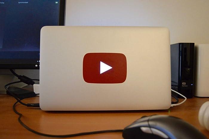 e8e706273 Amazon.com  Youtube Logo Macbook Sticker  Handmade