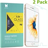 MouKou iPhone 6 Plus / 6S Plus Glass Screen Protectors 2 Pack Tempered Glass Screen Protector for iPhone 6 Plus 5.5 Inch / iPhone 6s Plus 5.5 Inch