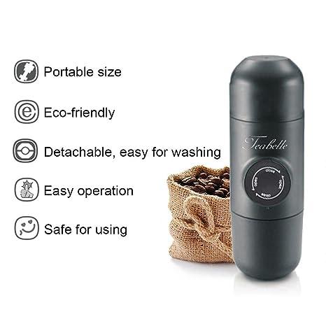 Kinbelle Máquina de café expreso portátil de presión, Preup Mini cafetera de mano para acampar