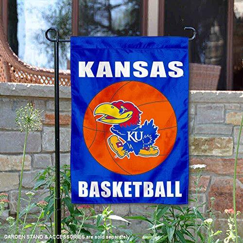 College Flags and Banners Co. Kansas Jayhawks Basketball Garden Flag