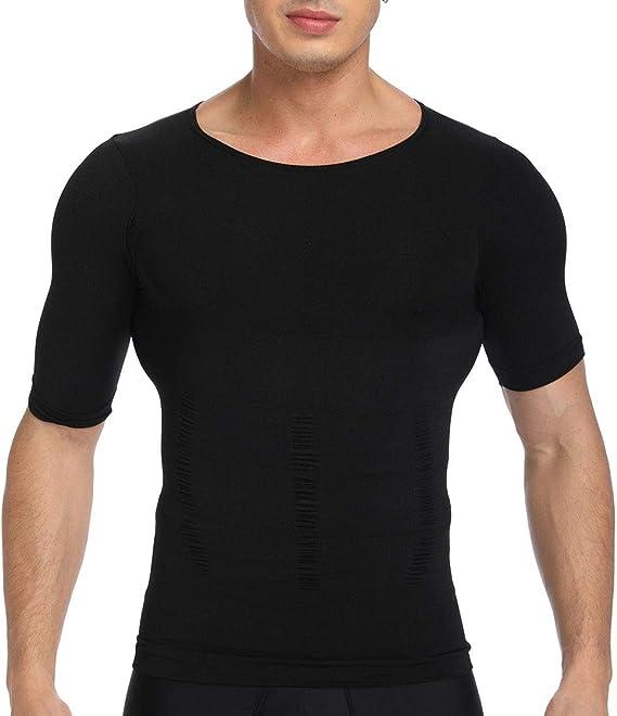 Nouveau Homme Slimming Shirt Body Shaper Vest Compression Fitness corset shapewear UK