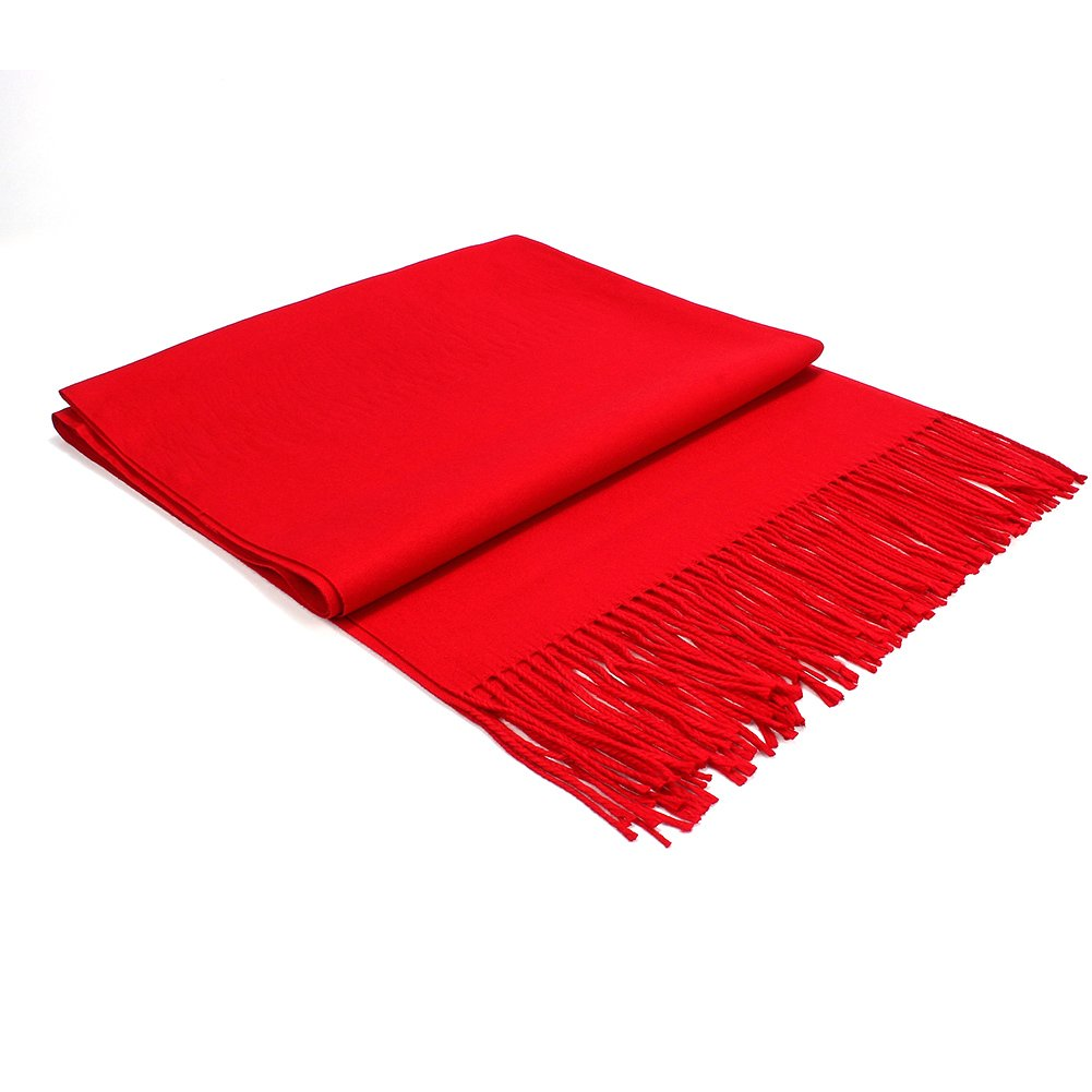 Colleer Pashmina Style Wrap Scarf Solid Colour Shawl Pure Cashmere - All Seasons FZSY833CPBK