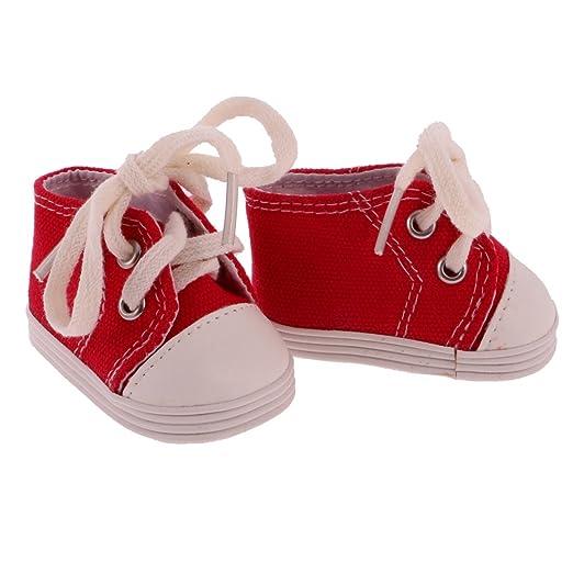 MagiDeal Lace up Scarpe di Tela Scarpe Sneakers Flats per 18 Pollici Americana Della Ragazza Doll Bambola Accessori - Blu vCX1cB