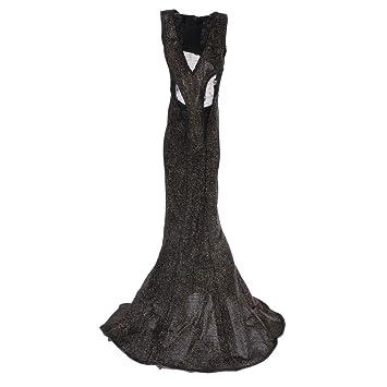 Sharplace 1:6 Escala Vestido Formal + Zapatos de Moda para 12inchs Cuerpos de Figuras de Acción Femeninas - Plata kfEci